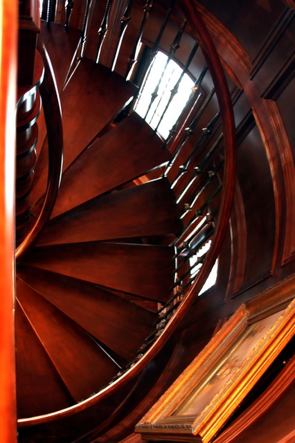 Inspiration for a traditional spiral staircase in Dallas.