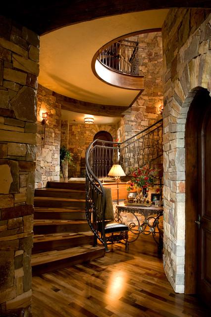 French Chateau Mediterranean Staircase Minneapolis