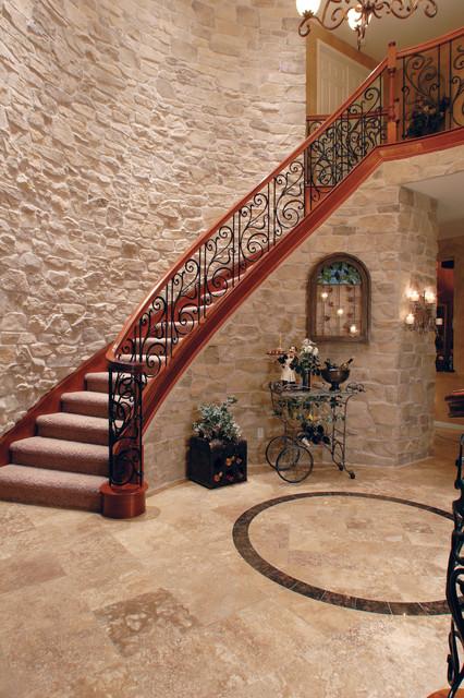 French country stone veneer staircase coronado stone French country stone