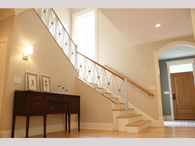 French Modern  (New Construction) transitional-staircase