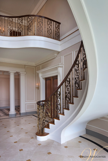 French style meets georgian elements in this wadia country for Georgian staircase design