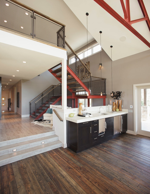From Concrete Barn to Custom Home contemporary-staircase
