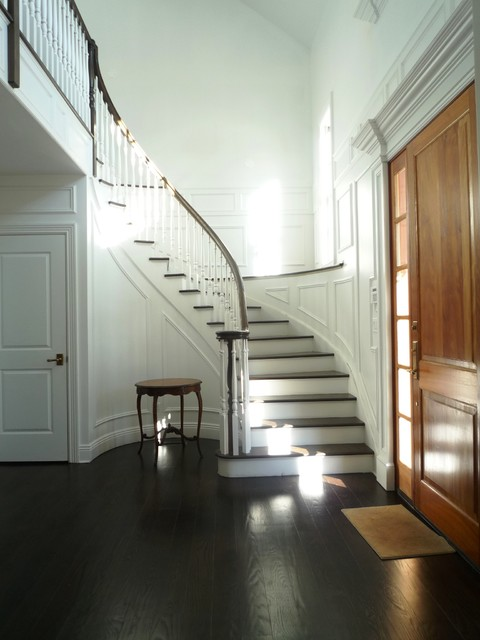 Front Foyer Traditional Staircase New York By
