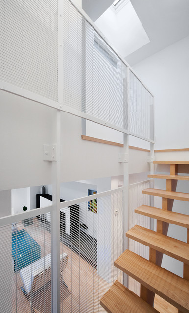 Front to Back Infill contemporary-staircase