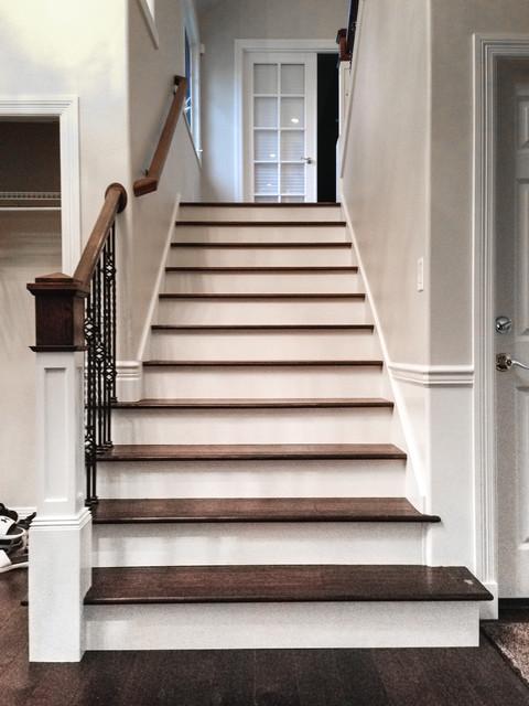 FULL STAIRCASE UPGRADE WITH NEW ENGINEERED HARDWOOD FLOORS