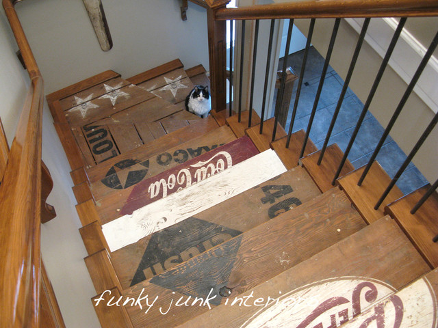Funky Junk Interiors eclectic-staircase