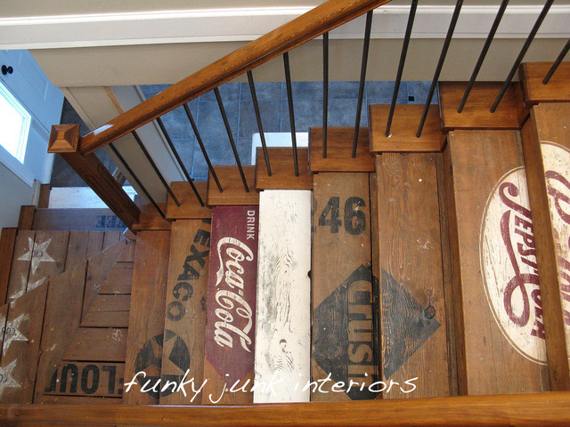 Funky Junk Interiors Eclectic Staircase