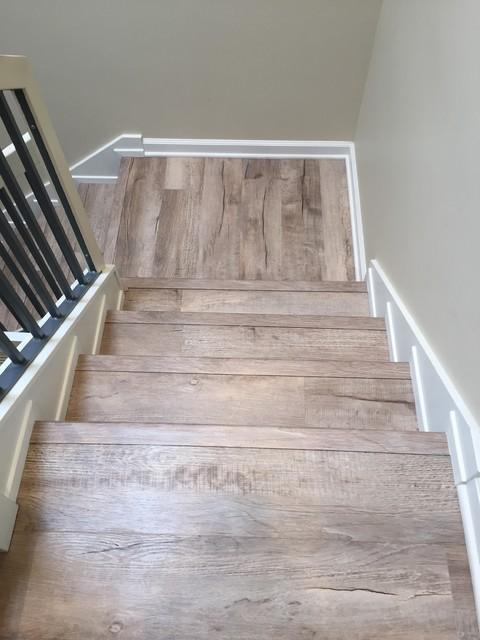 Fusion max murol beach style staircase san diego for Hardwood floor dealers