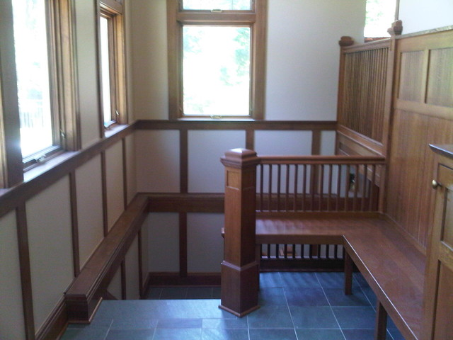 Garage, Mudroom, Kitchen traditional-staircase