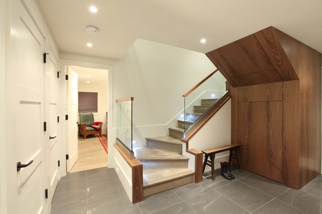 Garden house contemporary staircase vancouver by for Finishing a basement step by step guide