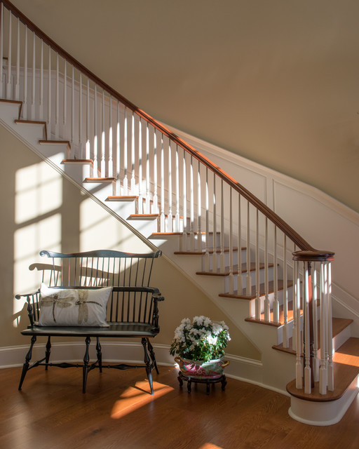Georgian colonial traditional staircase boston by for Georgian staircase design