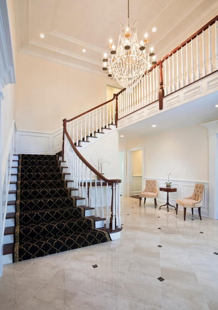 Georgian Colonial Style in Stamford, CT traditional-staircase
