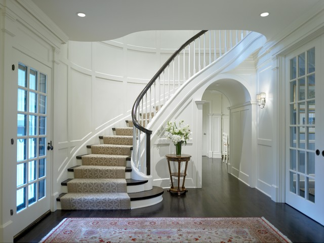 Georgian Rebirth Staircase - Traditional - Staircase - Chicago - by Burns and Beyerl Architects