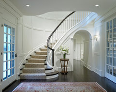 Georgian Rebirth Staircase traditional-staircase
