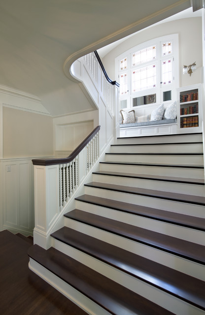 Georgian style traditional staircase minneapolis for Georgian staircase design