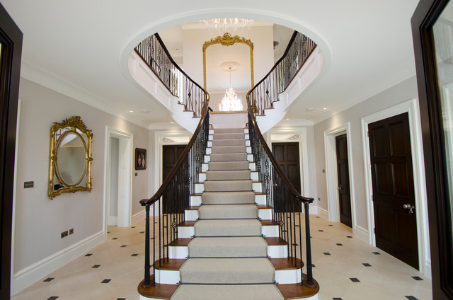 Georgian manor traditional staircase devon by sue for Georgian staircase design