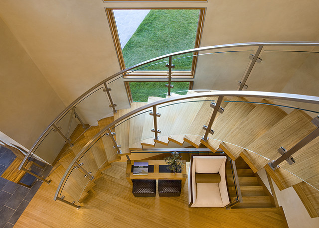 Getty Staircase contemporary-staircase