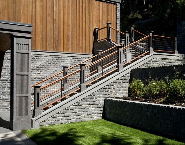 Gig harbor waterfront contemporary staircase seattle for Furniture gig harbor
