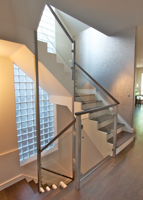 Glass & Stainless Railings modern-staircase