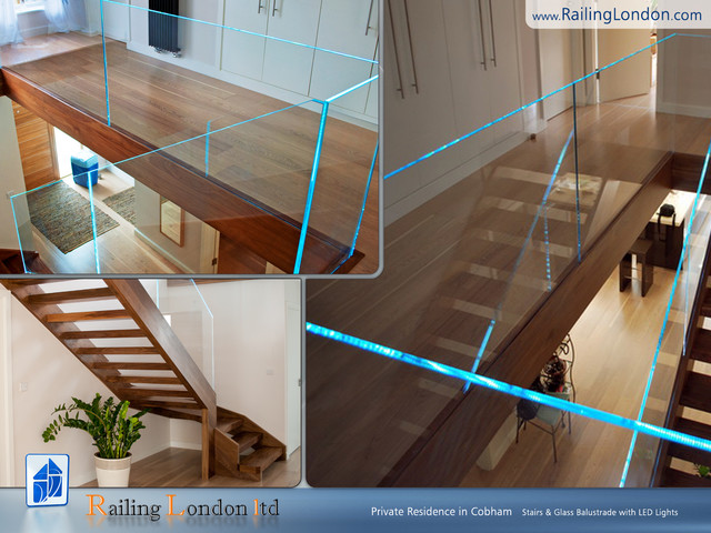 Glass Balustrade Modern Staircase London By Railinglondon Ltd