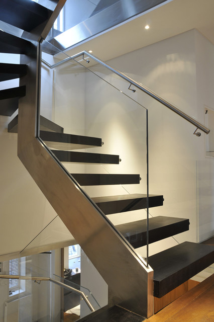 glass balustrade staircase. Black Bedroom Furniture Sets. Home Design Ideas