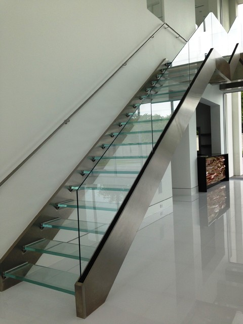 Glass Floor Treads Steps And Support Brackets