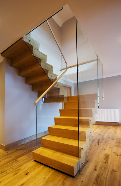 Glass Hung Stair Contemporary Staircase Edinburgh