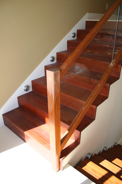 Glass Panel Stair Project. Akers Residence. Melbourne Fl modern-staircase