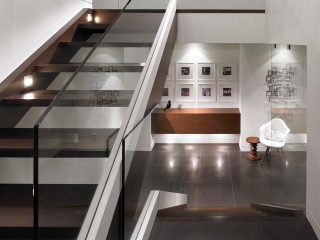 Superbe Glass Railing Stair Case Modern Staircase