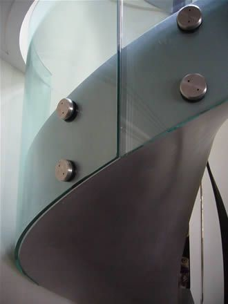Glass railings and guard rails contemporary-staircase