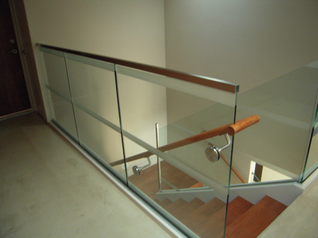 Gl Railings Interior And Exterior Modern Staircase San Francisco