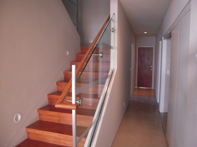 Glass Railings Interior And Exterior Modern Staircase San Francisco By Old Town
