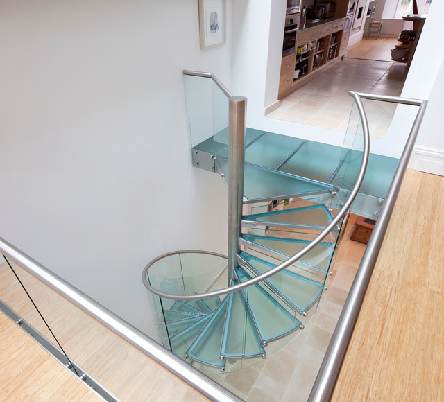 Glass Spiral Staircase - Contemporary - Staircase - toronto - by EeStairs America Inc