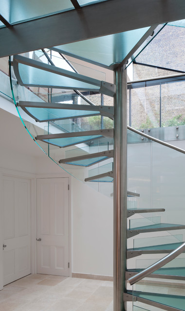 Glass Spiral Staircase Contemporary