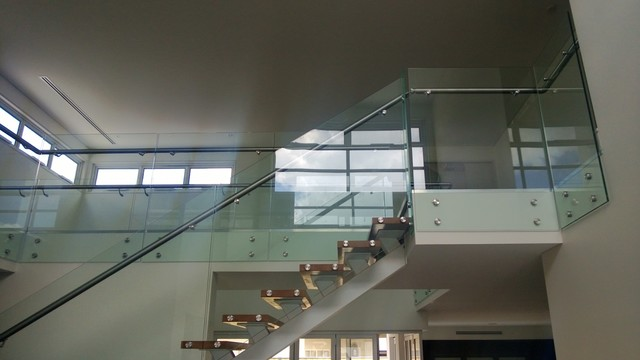 Glass Stair Railing Contemporary Staircase