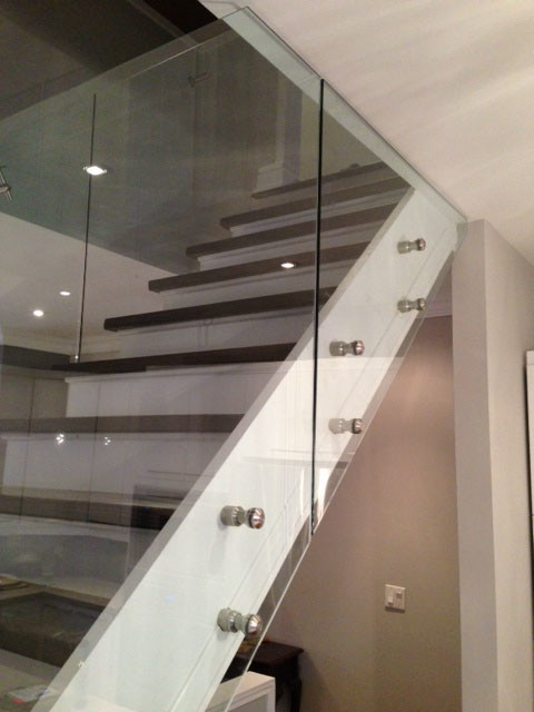 Attractive Glass Stair Railings Contemporary Staircase