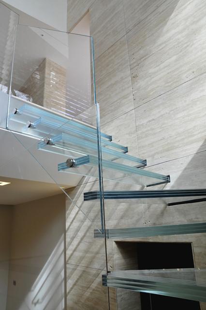 Glass staircase modern-staircase