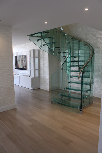 Tower Modern Staircase : Glass staircase olympic tower new york