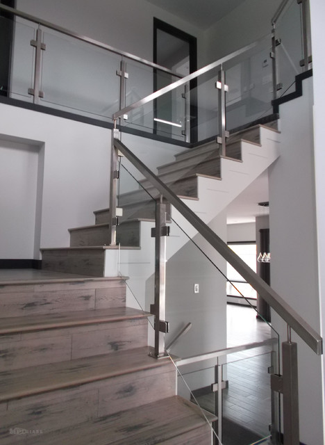 glass staircase railings contemporain escalier autres p rim tres par mpd glass vinyl. Black Bedroom Furniture Sets. Home Design Ideas