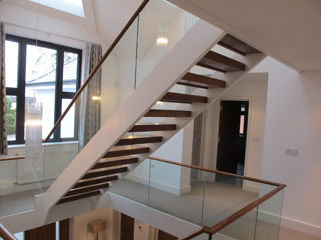 Glazed staircases - Modern - Staircase - london - by Rhoco