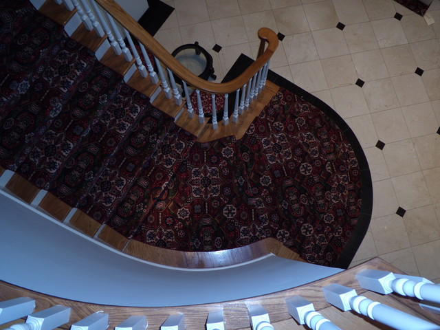Godfrey Hirst Red Wool Steps traditional-staircase