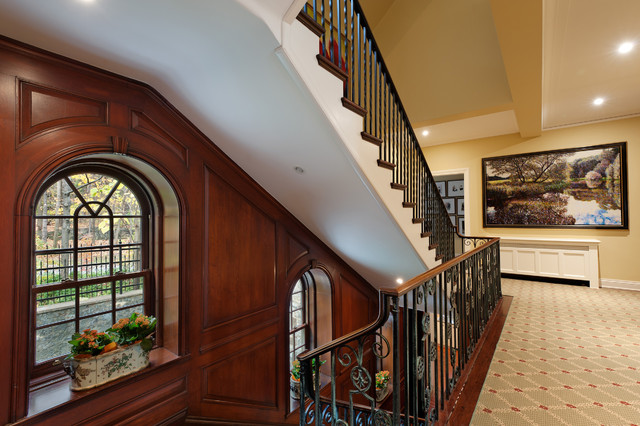 Golden Square Mile Mansion - Montreal traditional-staircase