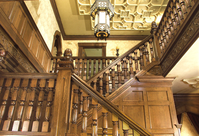 Gothic Period Home Traditional Staircase New York