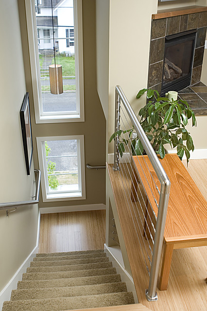Gracie Towhomes contemporary staircase