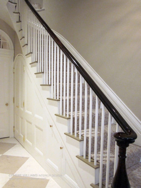 Traditional Foyer Jobs : Gracious foyer traditional staircase boston by