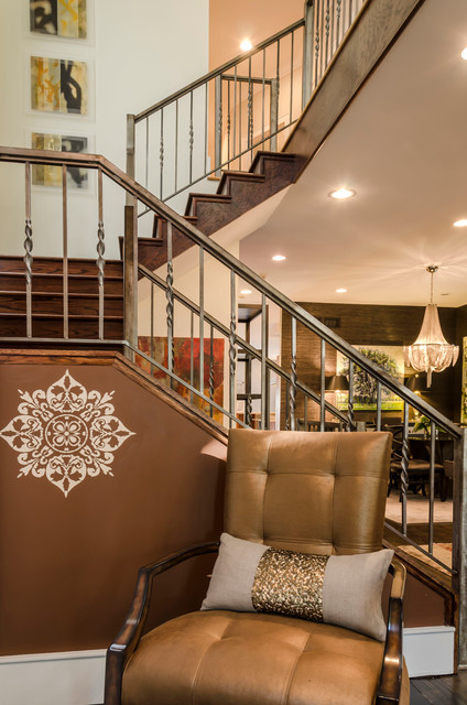 Gracious House Design Exhibit Modern Staircase Chicago By Rahokanson Photography