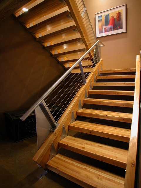 Grand Junction House Industrial Staircase Denver