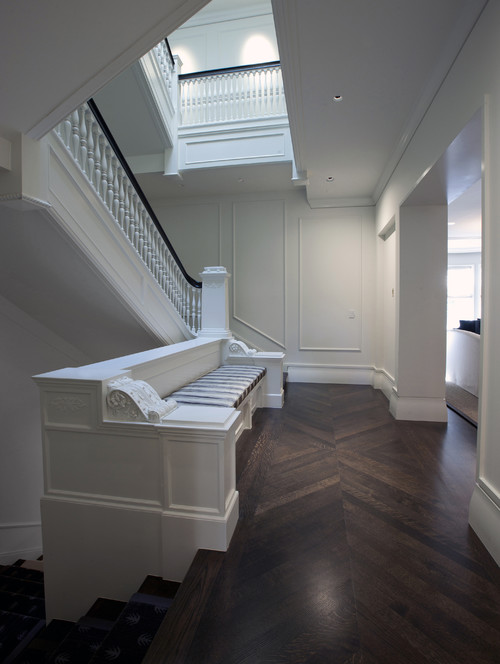 traditional staircase Flooring Pattern Guide