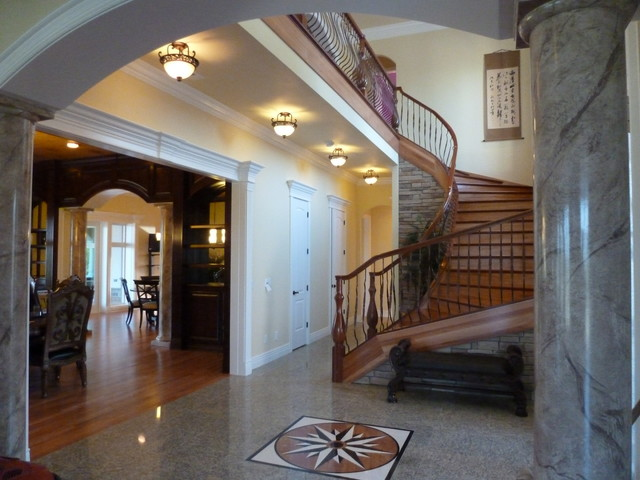 Granite floored entry staircase