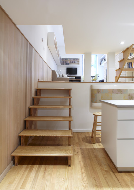 Great 1 bedroom nyc contemporary-staircase